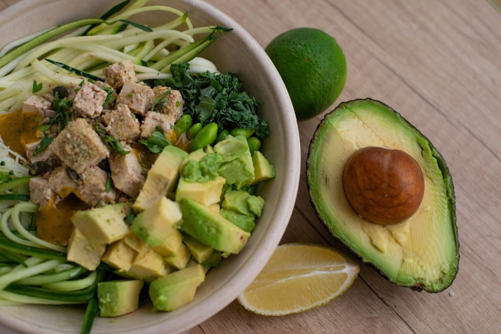 bowl of keto diet salad